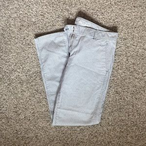 Skinny Mini Khakis by GAP grey and white stripe